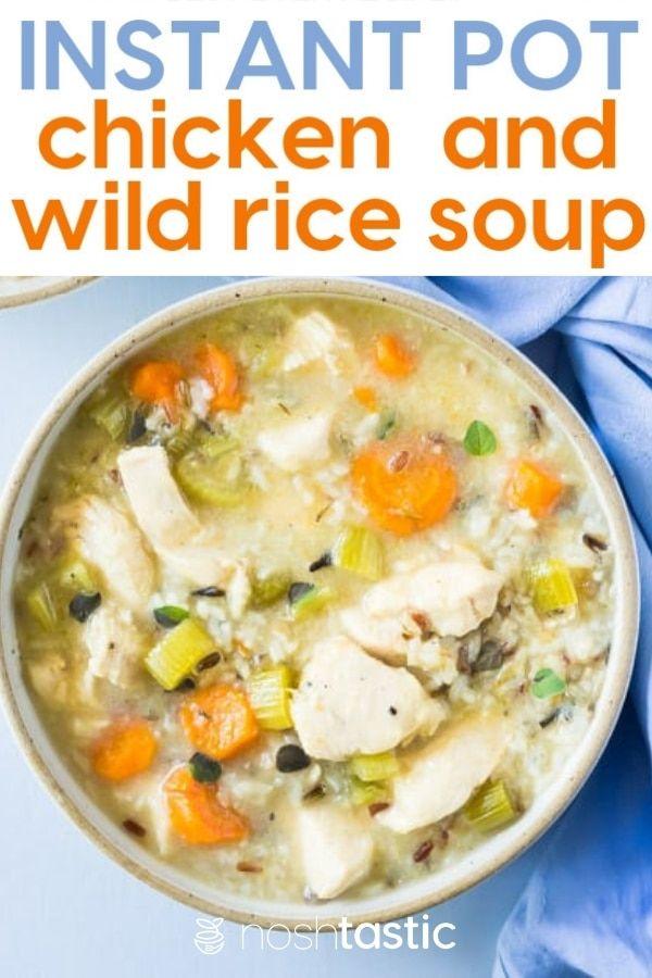 Pressure Cooker Chicken And Wild Rice Soup Recipe It S Gluten