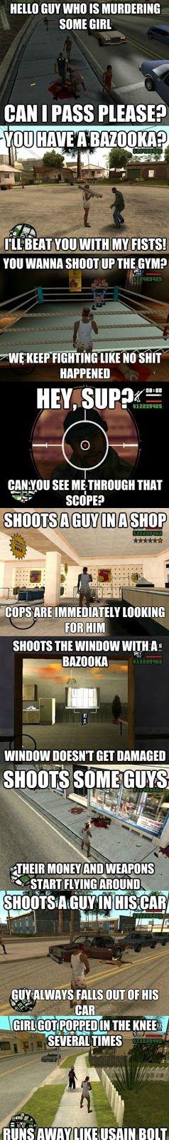 Funny GTA logics