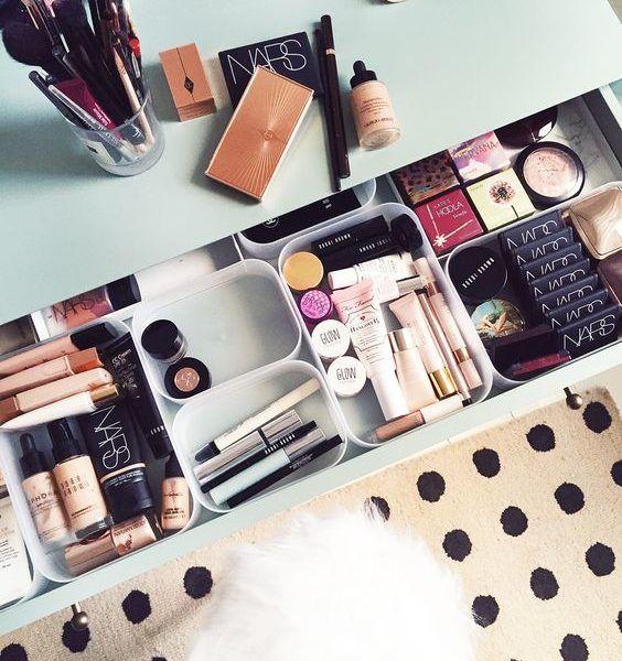 Drawer Dividers for make up organisation