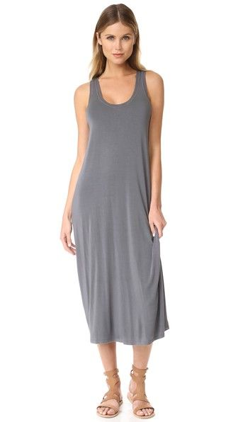 ENZA COSTA Midi Tank Dress. #enzacosta #cloth #dress #top #shirt #sweater #skirt #beachwear #activewear