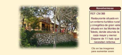 CM568 Navahermosa. Toledo  Restaurante casa rural en venta http://www.lancoisdoval.es/casas-rurales-en-venta.html
