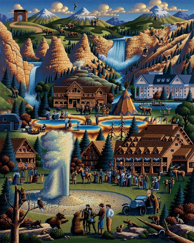 Eric Dowdle | Yes, part of Yellowstone resides in Idaho, so, of course we need Yellowstone by Eric Dowdle on the Idaho page! It's now available as a Dowdle Puzzle at www.DowdlePuzzles.com.