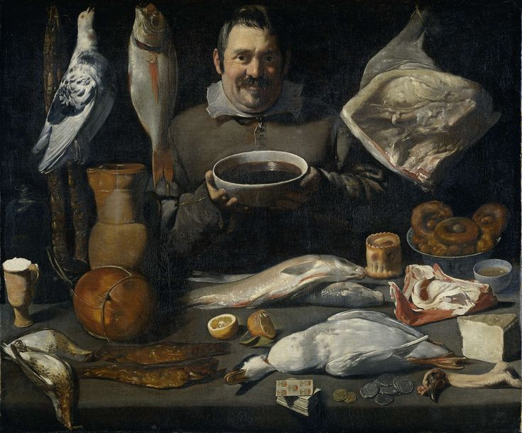 Keukenstuk (bodegone), Meester van de Amsterdamse Bodegón, 1610 - 1625