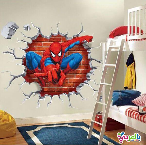 افكار لتزيين غرف نوم اطفال ديكورات غرف نوم اطفال بالعربي نتعلم In 2020 Spiderman Room Superhero Room Spiderman Bedroom