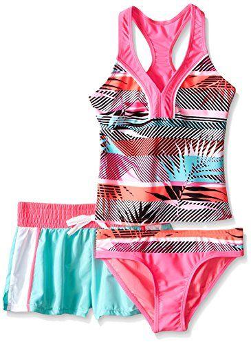 9815e759a8296 Girls' Tiki Topsy Halterkini Swimsuit with Short   swimwear ...