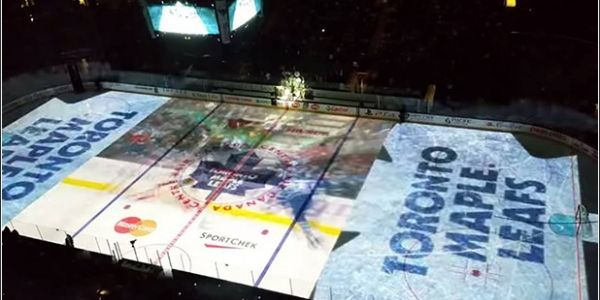 Check Out the Insane PreGame Video Projection from aToronto Maple Leafs Game -