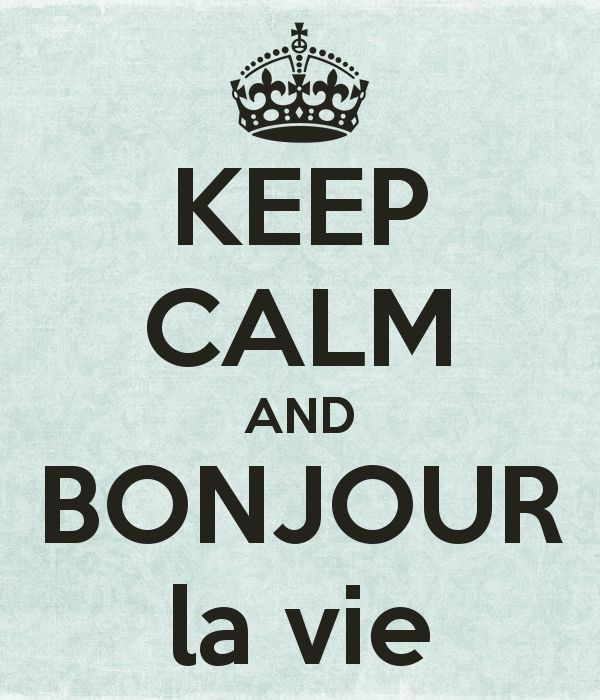 KEEP CALM AND BONJOUR la vie