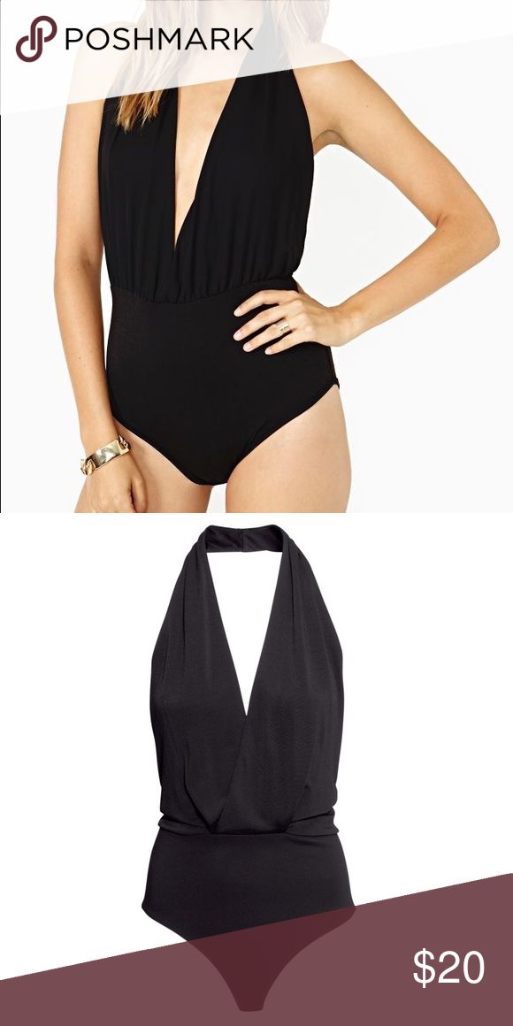H&M plunging halter bodysuit. NWOT. Never worn H&M plunging halter bodysuit. NWOT. Never worn. In black. H&M Tops