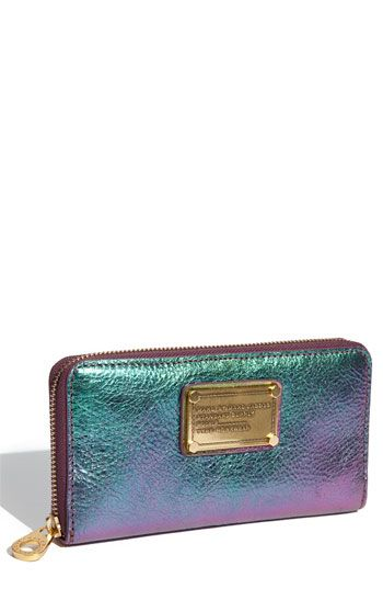 Marc by Marc Jacobs Classic Q Wallet in Napa Irridescent, where have you been all my wallet carrying life?