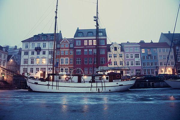 Nyhavn District in Copenhagen_ Denmark
