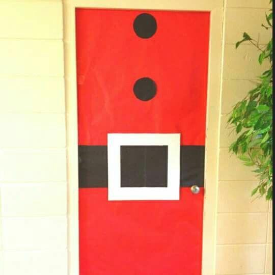 Puerta de santa claus preesco decoraci n pinterest for Puertas decoradas santa claus
