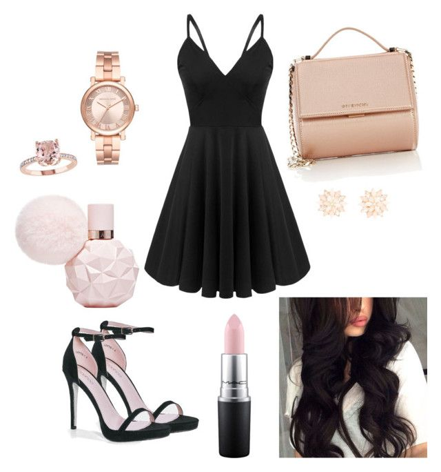 """""""Party animal"""" by eleftheria-kallou on Polyvore featuring Boohoo, Givenchy, Michael Kors, Charlotte Russe and MAC Cosmetics"""