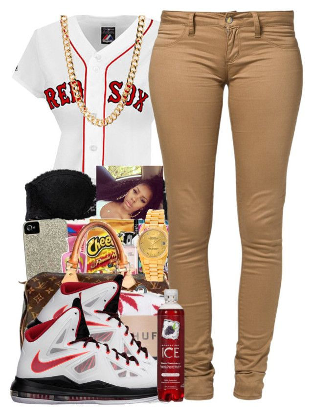 """For AJ"" by dyemondsmindless ❤ liked on Polyvore featuring Aerie, xO Design, Rolex, Monkee Genes, HUF and NIKE"