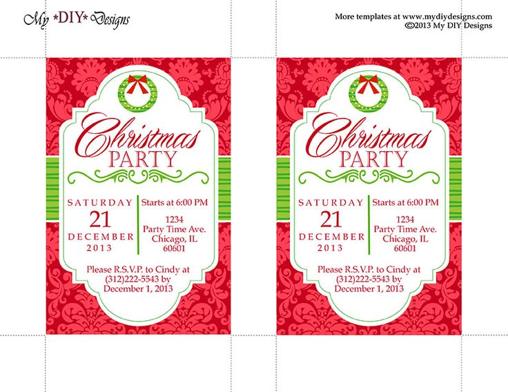 25+ ide terbaik Christmas invitation templates di Pinterest - holiday templates for word
