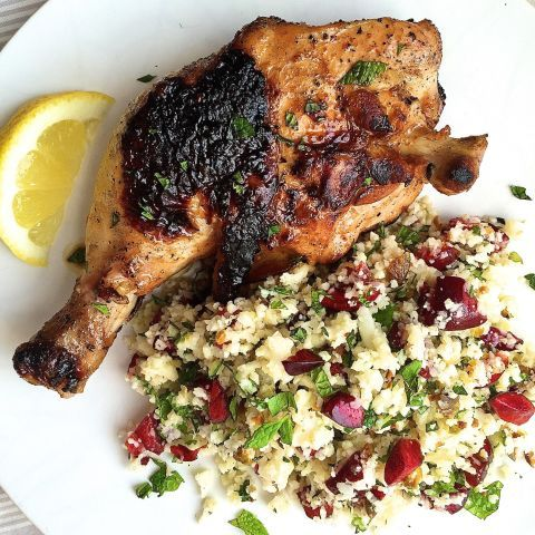 Who knew finely chopped cauliflower makes such a brilliant—and easier-to-make—stand-in for couscous?  Get the recipe: Spicy Chicken Legs and Cauliflower Couscous with Cherries, Pistachios, and Mint