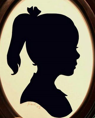 DIY project - How to make a silhouette of your child - Design Dazzle
