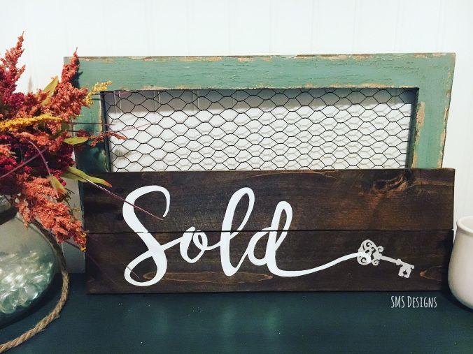 Rustic 'Realtor's Sold' Pallet Sign | smsdesigns