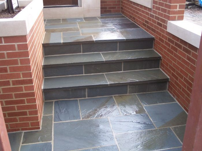 Entry Steps Irregular The Interior Limestone, Stairs Are Stone Stairs  Products Get In Blue Design
