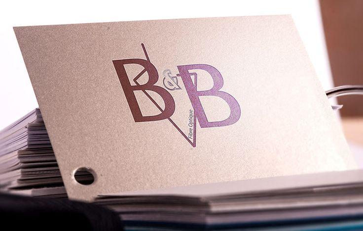 Création Logo B&B fibre optique 69400 Limas. Agence de communication Saori Beaujolais Val de Saône