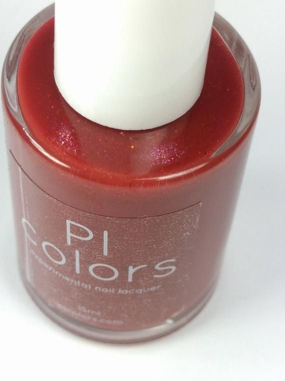 Betelgeuse.021 Berry Red Nail Polish with Red Glitter