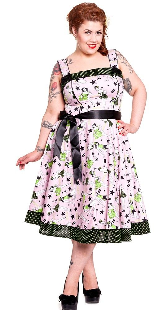 Hell Bunny Dixie 50's Dress in Pink | Blame Betty