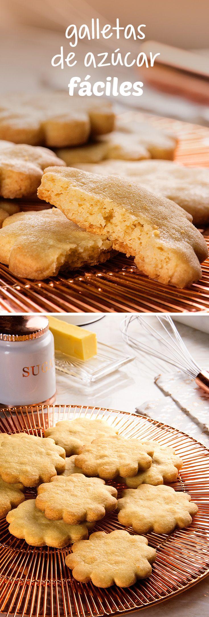 Te van a encantar estas galletas de azúcar como las que hacen las abuelitas. Esta receta de galletas es muy fácil y económica tanto si quieres regalarlas en una ocasión especial como si quieres preparar un postre para toda la familia.
