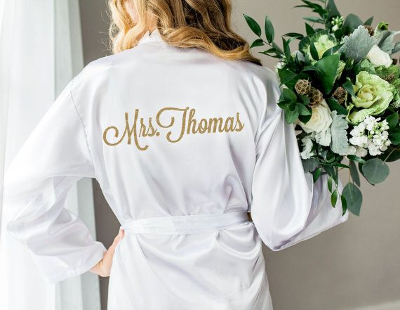 Wedding Robe for Bride and Bridesmaids, Bridal Party Robes for Bride to Be, Personalized and Monogram Options (Item - ROB100)