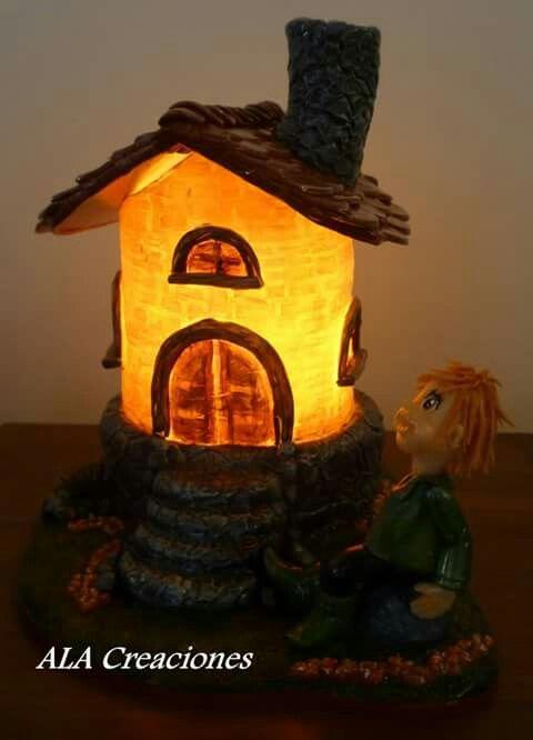 Lampada in porcellana fredda