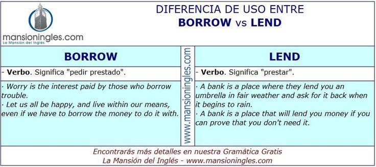 Diferencia de uso entre Borrow y Lend