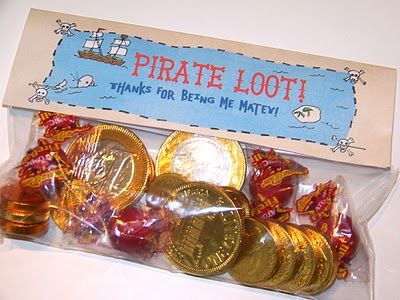Free Printable Pirate Party Treat Bag by B.Nute productions