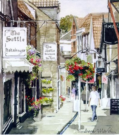 Cheap Street Frome by Ann March, Ann March, Highworth Artists' Society Highworth Artists' Society, SAA Professional Members' Galleries