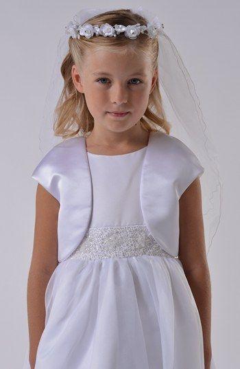 Us Angels Communion Satin Bolero (Little Girls & Big Girls) available at #Nordstrom
