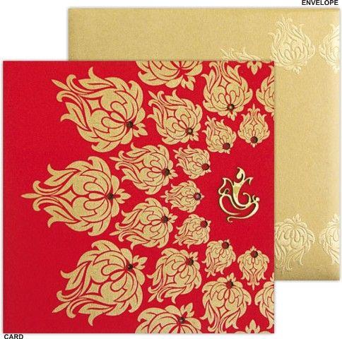 Indian Wedding Cards Muslim Scroll Hindu