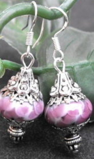 Murano Earrings with sterling silver findings: http://www.outbid.com/auctions/15001-queen-bee-auction#62