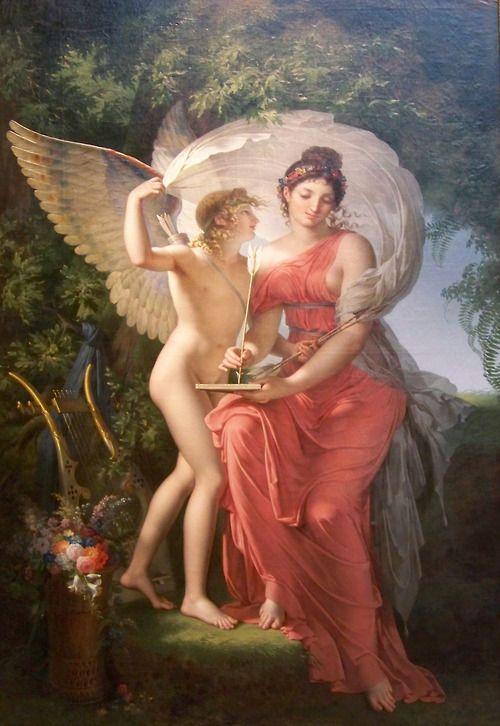 Erato, Muse of Lyric Poetry - Charles Meynier