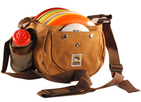 Double NutSac Disc Golf Bag...I'd wear this out on the course.