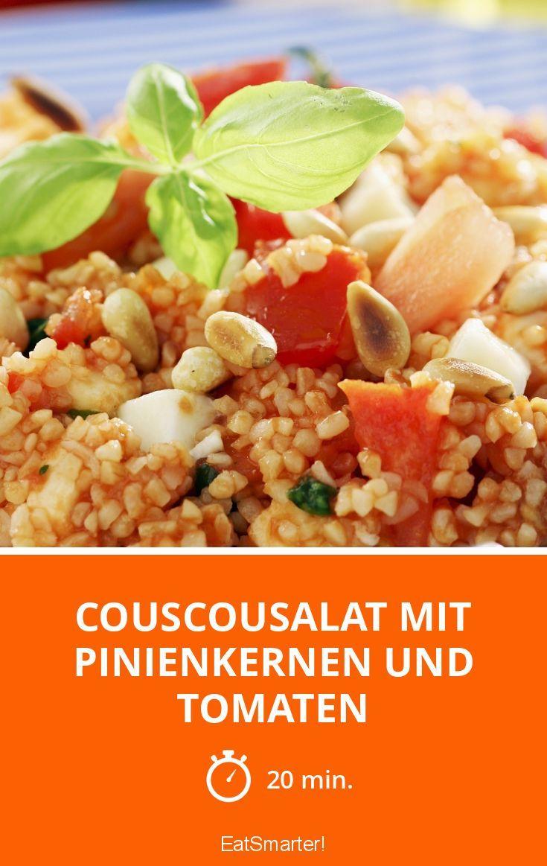 Couscousalat mit Pinienkernen und Tomaten