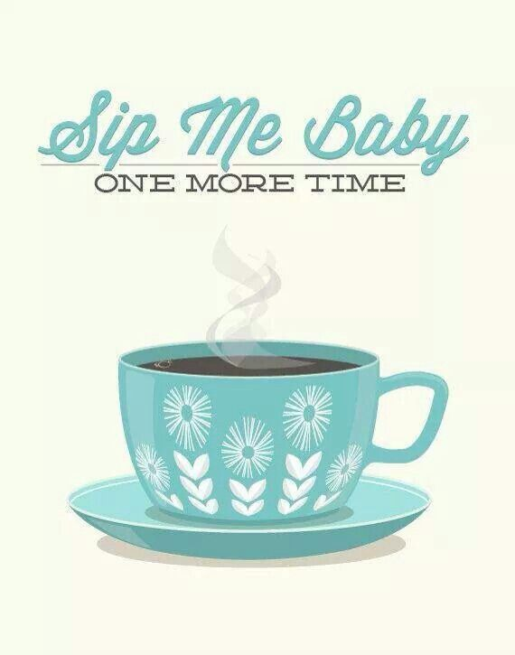 Coffee Tea Print Typography - Sip Me Baby - Poster wall art decor kitchen cup…