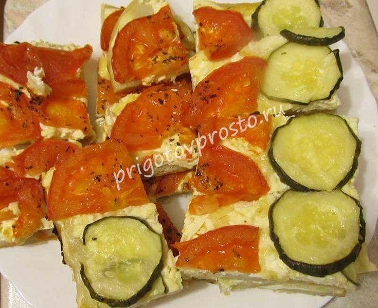 Тонкая лепешка с овощами