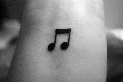 music note tattoo