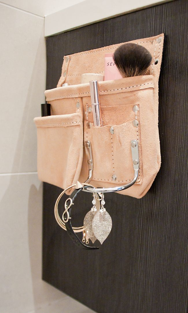 NO HOME WITHOUT YOU  -- if you have one of these carpenter's belt cases just laying around or just like the leather look