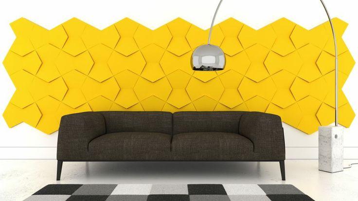 """Panele Fluffo są miękkie i miłe w dotyku. Wykonane są z elastycznej pianki poliuretanowej pokrytej strukturą w dotyku przypominającą aksamit. Dzięki zróżnicowanej wysokości paneli, Fluffo tworzy (a nie udają!) efekt 3D. Unikalność miękkich paneli Fluffo polega na połączeniu designerskiej formy paneli, ich miękkości oraz właściwości wygłuszających. Fluffo tworzy miękką ścianę. Śmiało – przytul się ;)""""."""