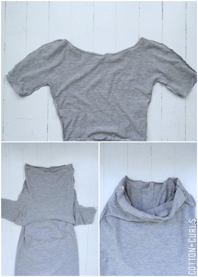 Long tight knit maxi dress tutorial