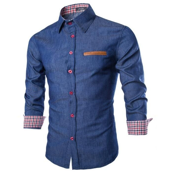 Fashion Slim Fit Denim Shirt for men | Gift Ideas for men from the Casual Wear Shop | Gifts for Guys