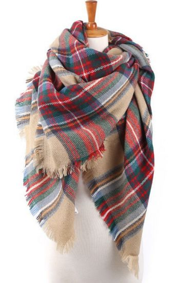 Plaid Blanket Scarf – Sweater Weather Co.