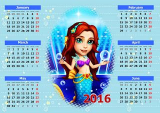 A six month calendar of Mina the Mermaid from the Royal Ever After fanblog. Very cute!  Visit me: http://royaleverafter.blogspot.com/  #royalstorygame #funplus #royalstory