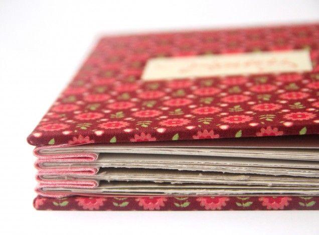 Encadernação - Álbum de fotos costura Concertina - Oficinas