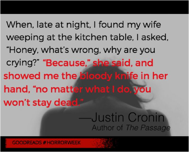 """Justin Cronin, author of """"The Passage,"""" shares an original two-sentence horror story with readers for #HorrorWeek"""