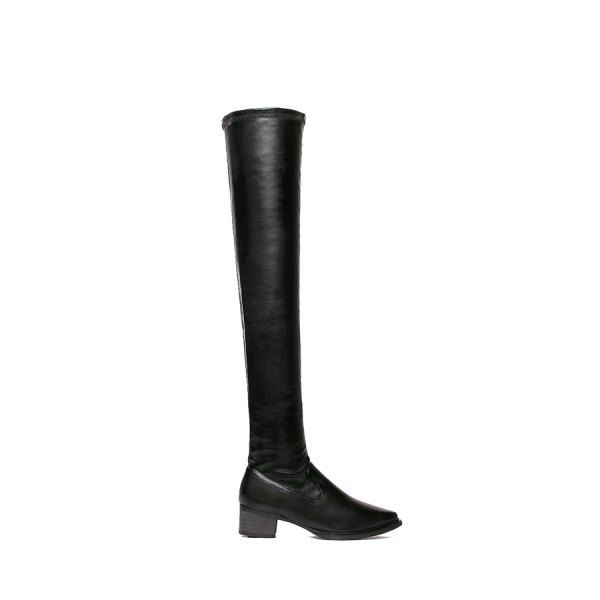 Simple Style Pointed Toe and Black Design Women's Over The Knee Boots #CLICK! #clothing, #shoes, #jewelry, #women, #men, #hats, #watches