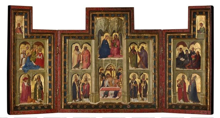De Norfolk-triptiek, voorbeeld van vroege Nederlandse schilderkunst. Video: http://www.arttube.nl/nl/Boijmans/Norfolk_triptiek
